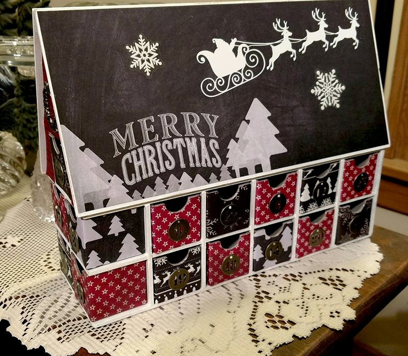 Chalkboard Christmas House