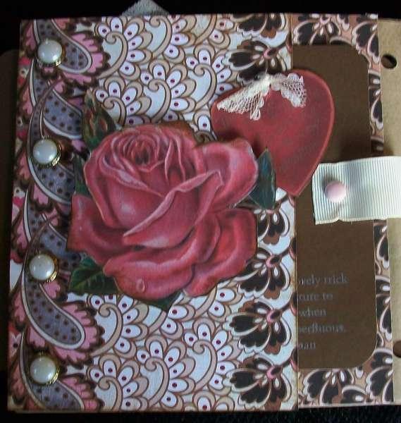 Vintage Valentine Paper Bag Album