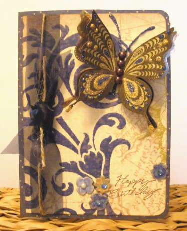 3-D Butterfly Birthday Card