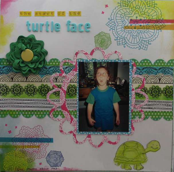 The Start of the Turtle Face