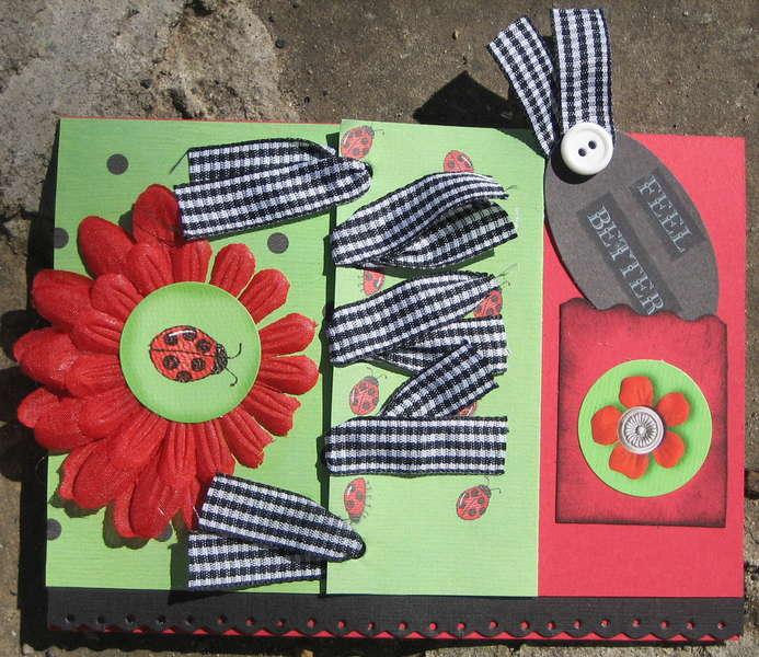 Card - Feel Better - Ladybug '08