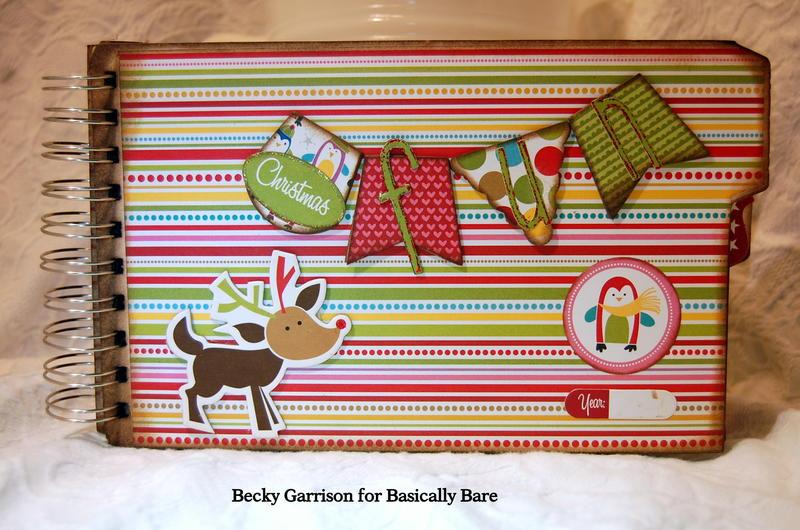 Basically Bare / Bella Blvd Blog Hop 'Christmas Fun' Mini Album Front Cover