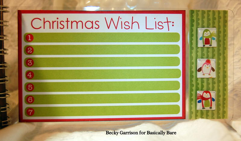 Basically Bare / Bella Blvd Blog Hop 'Christmas Fun' Mini Album Page 1