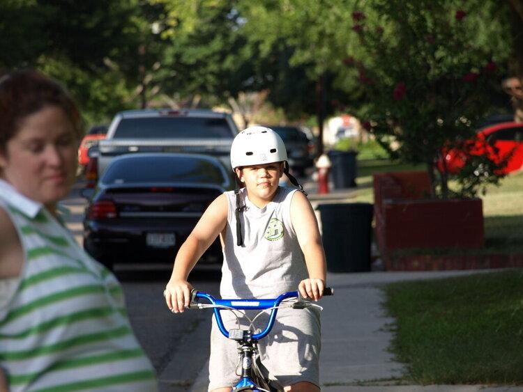 Tyler on Bike