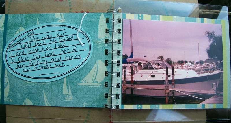 fun at the lake mini album - pages 1&2