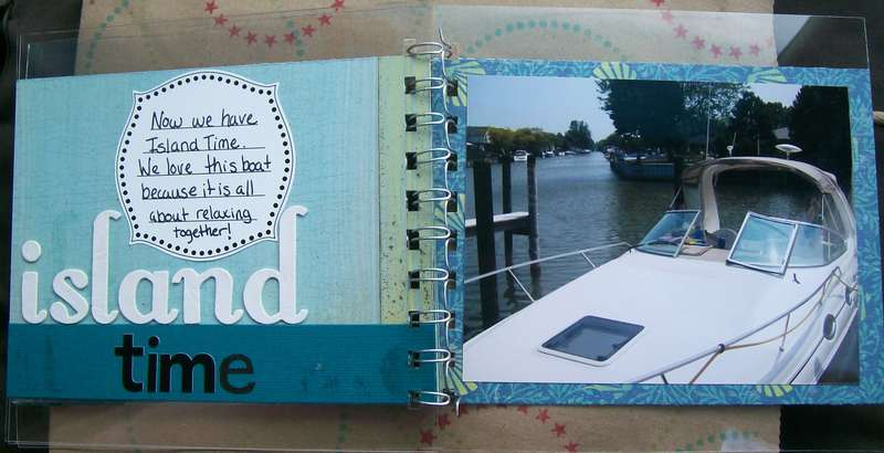 Fun at the Lake mini album - pages 5&6