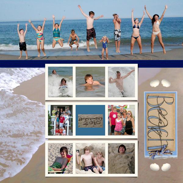 Beach with Rodney's 2010