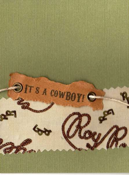 It's A cowBOY! baby shower invitation. double-sided. (front)