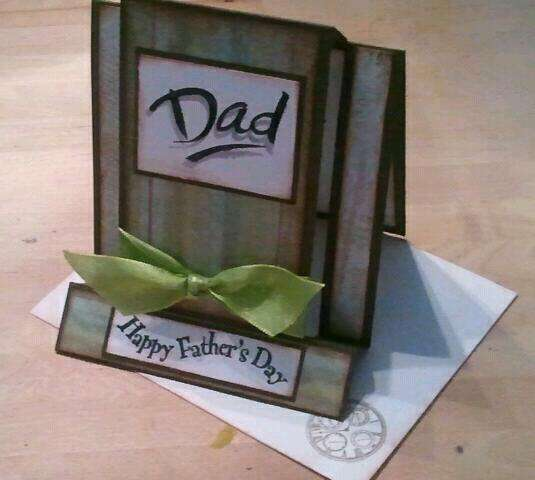 Father's day 'funky fold' card...
