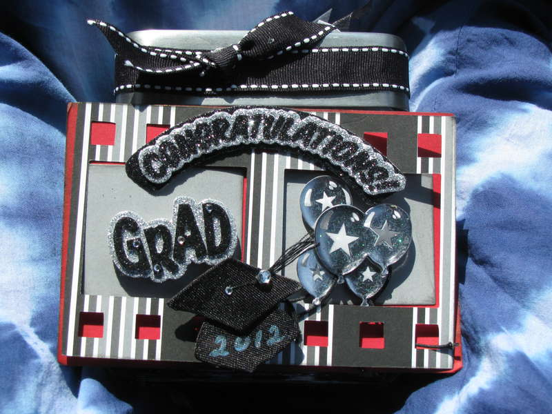 Graduation Altered Jar and Gift