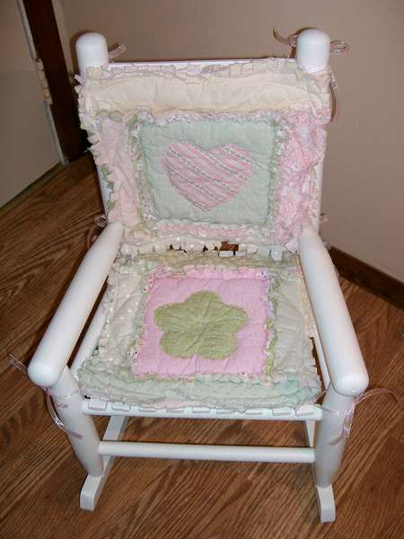 little rocking chair I refinished for gdd
