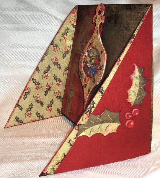 ornament shakerbox x-cross card