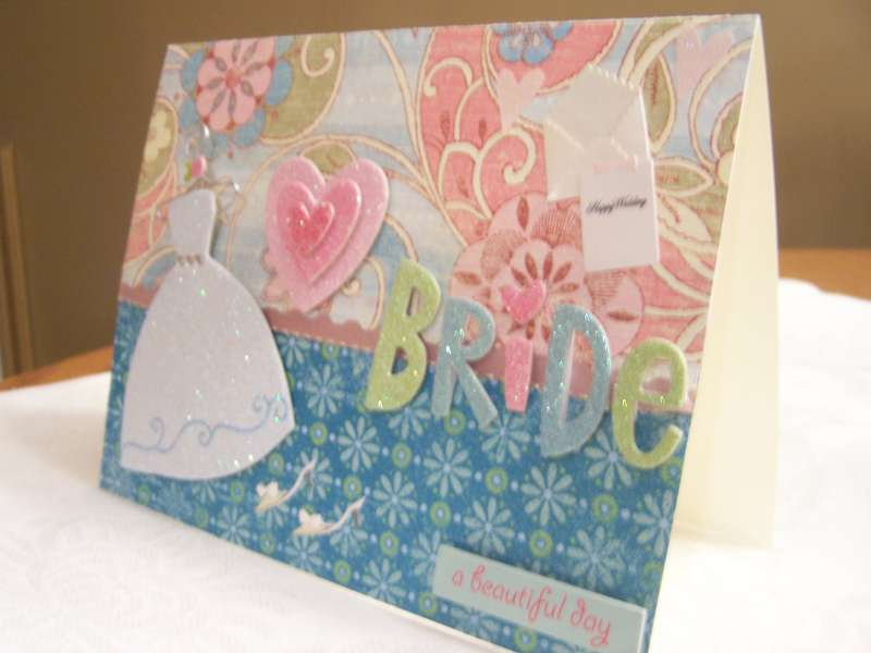 3-D View of Bride Card