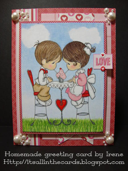 Sharing a Milkshake Precious Moments Valentine Card