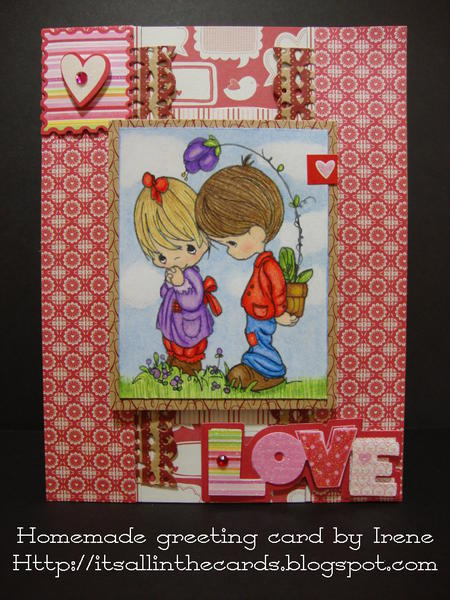 Flower Surprise Precious Moments Valentine Card
