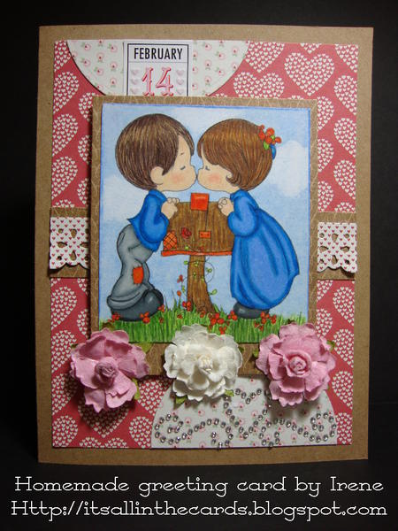 Kisses at the Mailbox Precious Moments Valentine Card