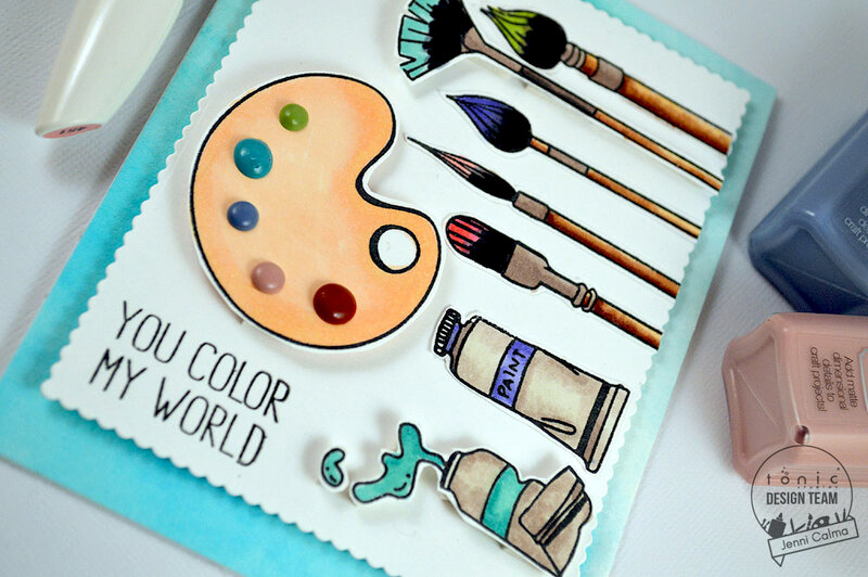 YOU COLOR MY WORLD - Card