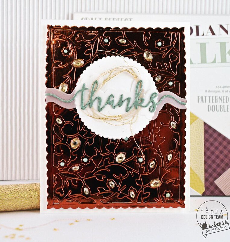 thanks Card - Woodland Walk Kit #20