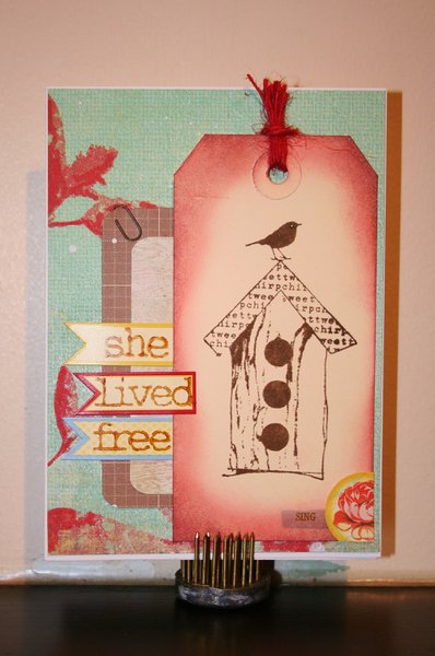 she lived free - birthday card