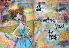 'what matters' - Art Journal