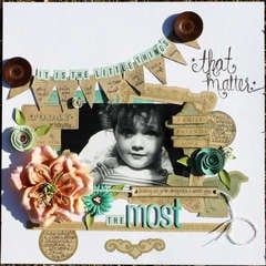 It's the Little Things *March ScrapMuse*