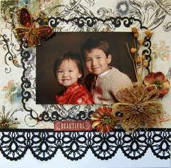 Portrait of two beautiful children