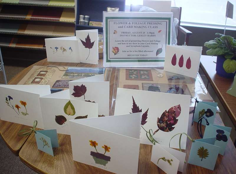 Flower Pressing and card making class