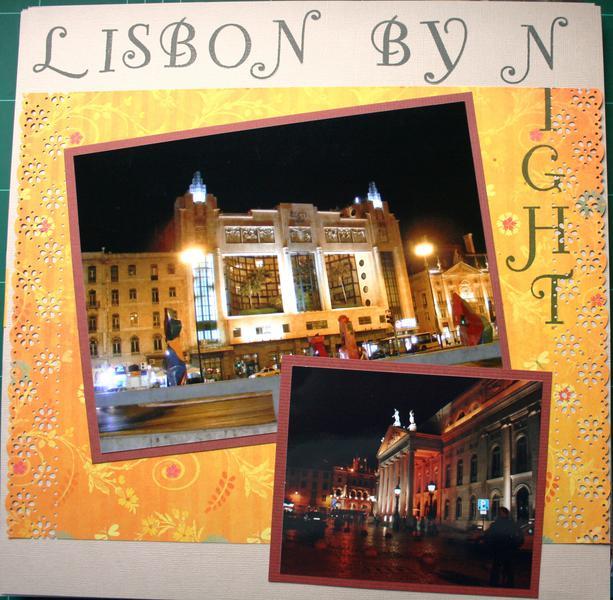 Lisbon by night left side