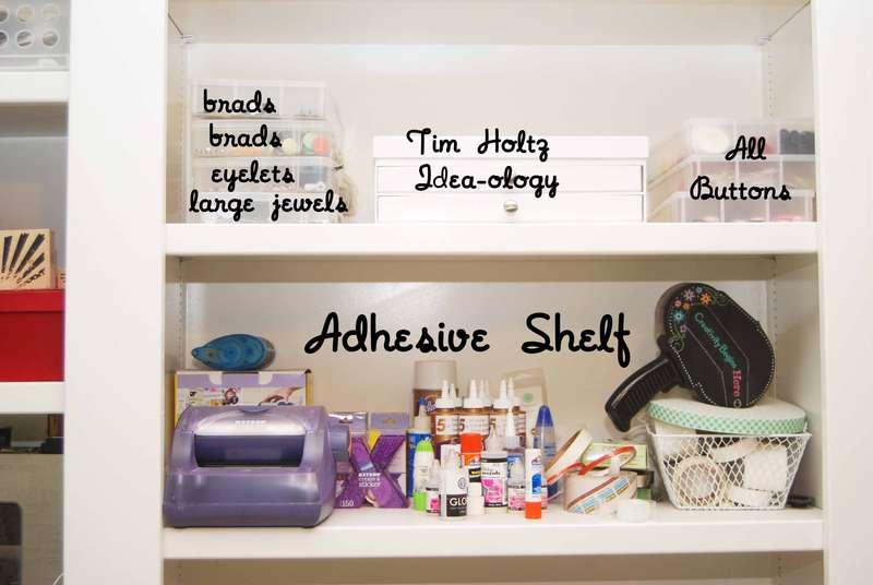 Adhesive & Embellishment Storage