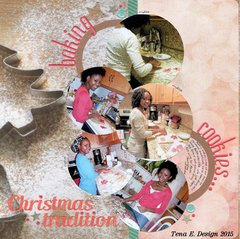 Baking cookies - Christmas traditions
