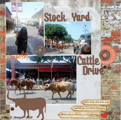 Stock Yard Cattle Drive