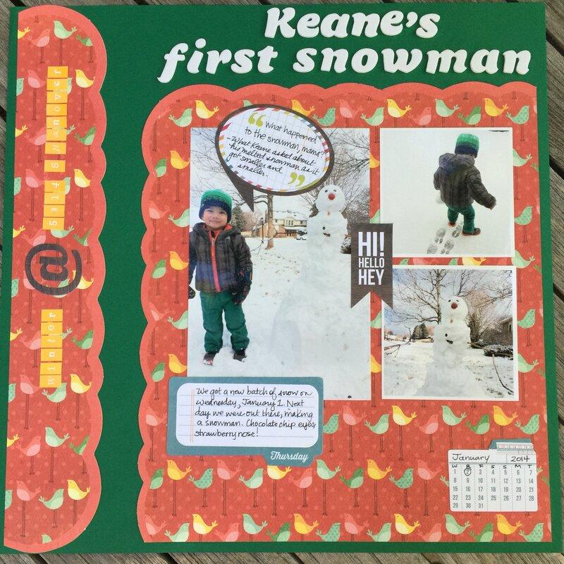 First Snowman!