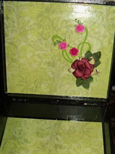 Altered Cigar Box~ Inside lid