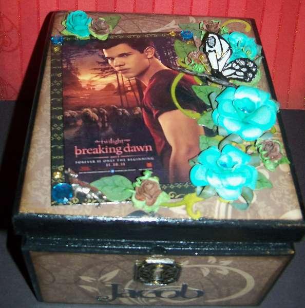 Altered Cigar box~ Breaking Dawn~ Jacob