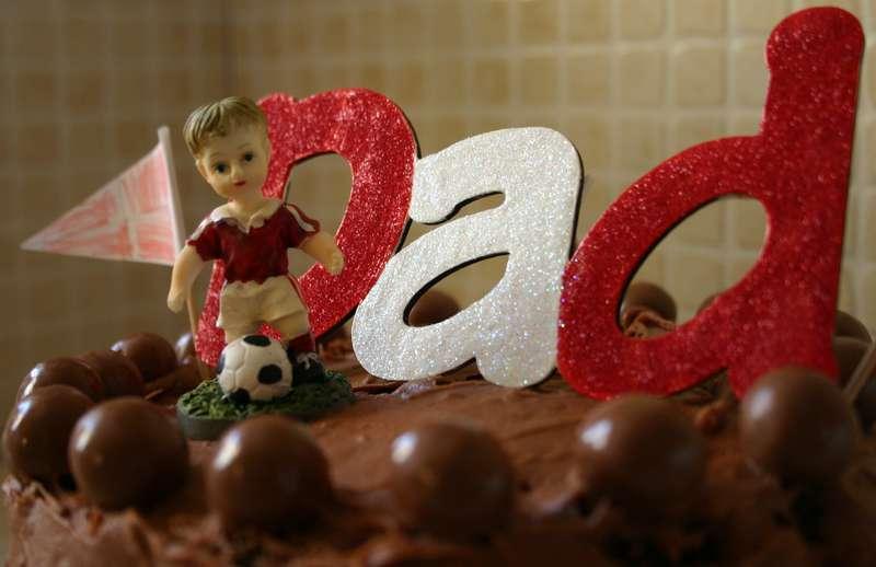 Chipboard cake decoration