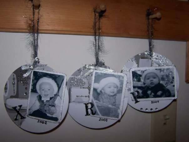 altered cd ornaments 1