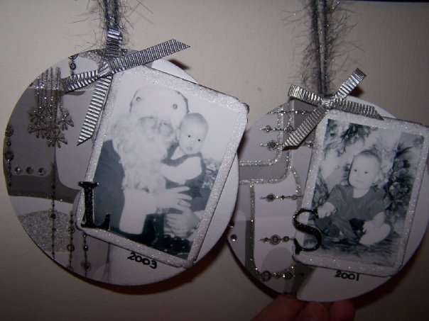 altered cd ornaments 2