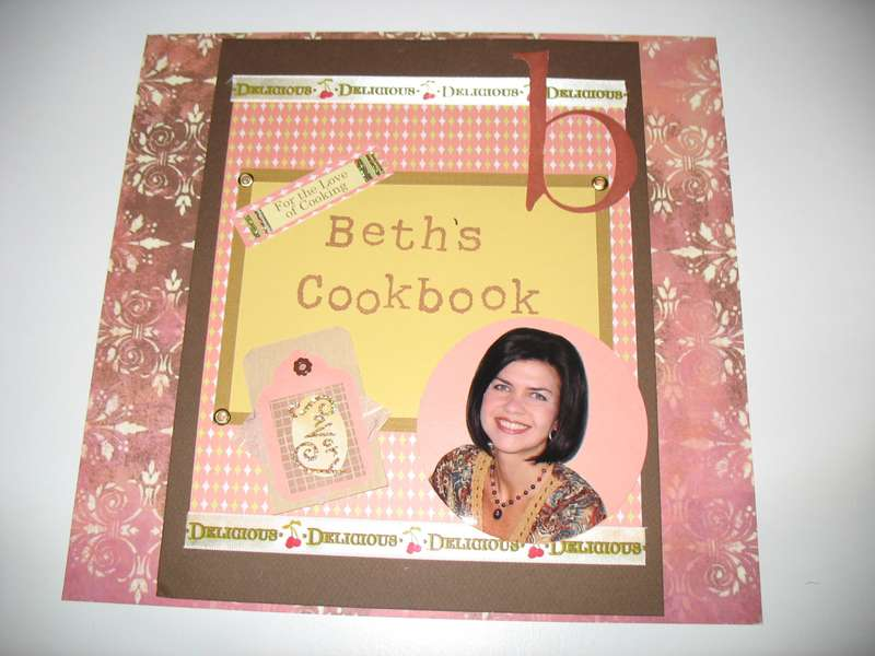 Cookbook cover to my personal home cookbook