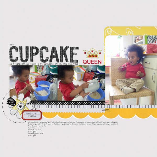 Cupcake Queen, Color Combo Challenge #73