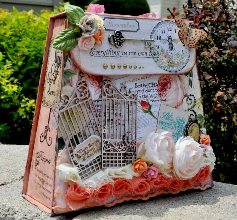 """Altered Box """" Scraps of Elegance"""