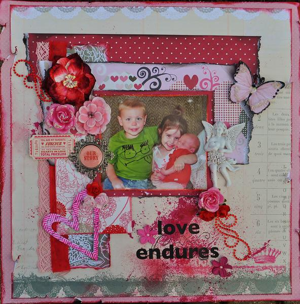 """ Love Endures""  Scraps of Elegance"