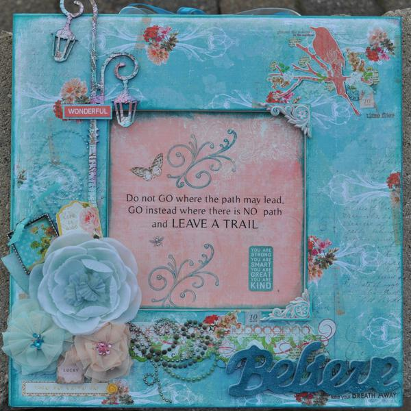 "Scraps of Elegance "" Altered Frame"""