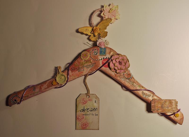 """Altered Hanger """"Scraps of Elegance"""