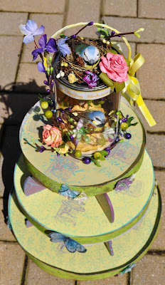 """Clearsnap """" Spring, I Hear the Birds Singing"""" Cupcake Tower"""