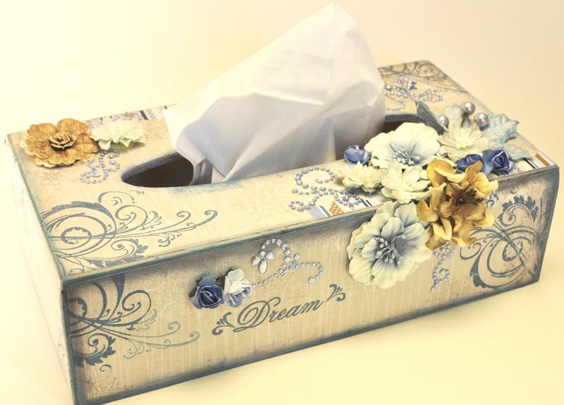 """Scraps of Elegance """"Altered Tissue Box"""""""