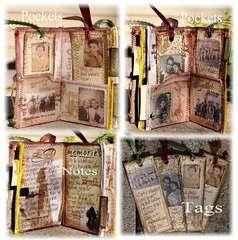 Vintage Manilla Folder Journal ***Clearsnap**