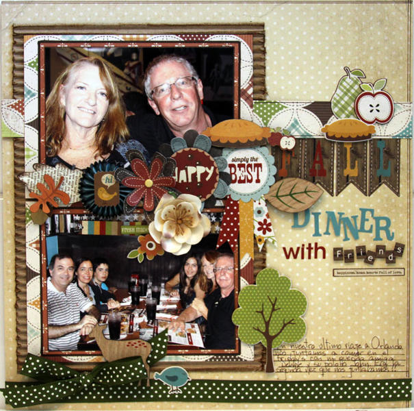 FALL DINNER ***MY CREATIVE SCRAPBOOK***
