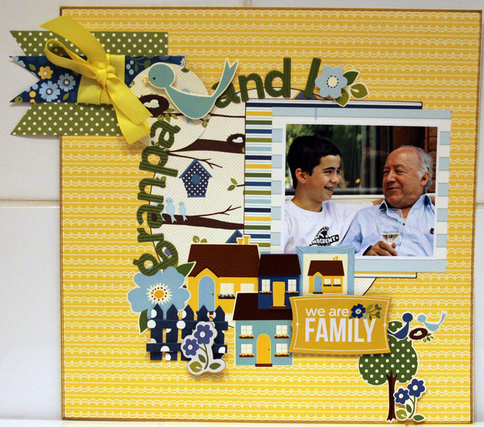 GRANPA AND I *** MY CREATIVE SCRAPBOOK***