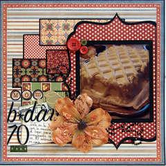 MOM B-DAY 70 CAKE