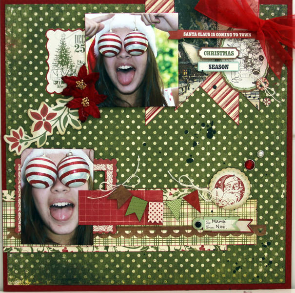 SANTA CLAUS IS COMING *** MY CREATIVE SCRAPBOOK***